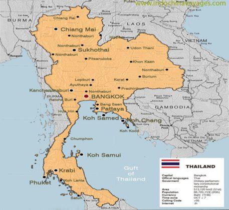 Thailand maps