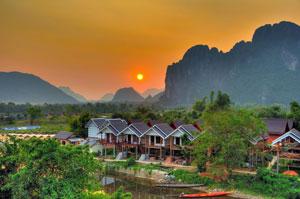 Vangvieng – The Nam Song river landscape